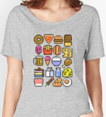 8 bit Foodie v2 Women's Relaxed Fit T-Shirt
