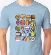 8 bit Foodie v2 Distressed Unisex T-Shirt