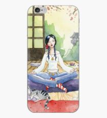 Enjoy the silence - meditating cat iPhone Case
