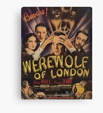 Werewolf of London, vintage horror movie poster Canvas Print
