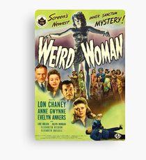 Weird Woman, vintage horror movie poster Canvas Print