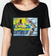 The House of Frankenstein, vintage horror movie poster Women's Relaxed Fit T-Shirt