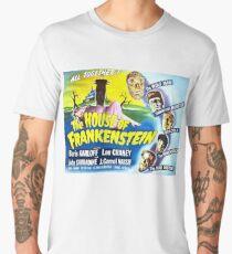The House of Frankenstein, vintage horror movie poster Men's Premium T-Shirt