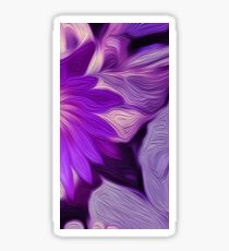 Purple Floral Dark Sticker