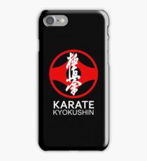 Kyokushin Karate Symbol and Kanji White Text iPhone Case/Skin