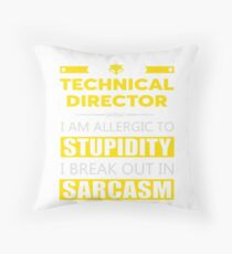 TECHNICAL DIRECTOR - SARCASM TEES AND HOODIE Throw Pillow