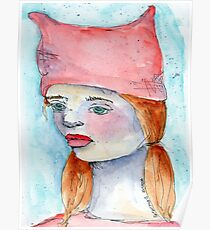 The Girl in a Pink Hat Poster