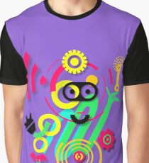illustration. Hipster. Hand drawn Crazy doodle cute.  Graphic T-Shirt
