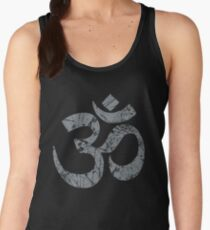 OM Yoga Spiritual Symbol in Distressed Style Women's Tank Top