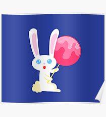 Lollipop Bunny Poster