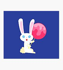 Lollipop Bunny Photographic Print