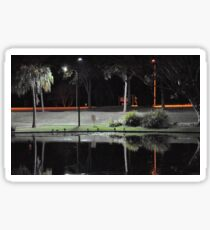 Caboolture lakeside at night Sticker