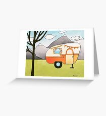 Whimsical Art RV Camper Outdoor Adventure Greeting Card