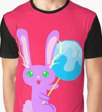 Lollipop Bunny Fantasy Camiseta gráfica