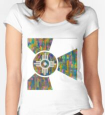 Wichita Flag - V of X Women's Fitted Scoop T-Shirt