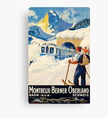 Montreux-Berner Oberland Schweiz Canvas Print
