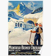 Montreux-Berner Oberland Schweiz Poster