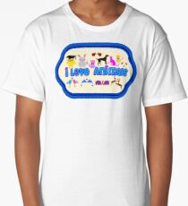 ❤↷I Love Animals-Animal Lovers↶❤ Long T-Shirt