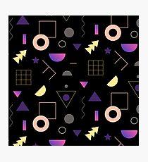 Memphis Black Pattern Photographic Print