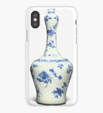 Blue  Chinese Chinoiserie Pottery Vase No 8 iPhone Case/Skin