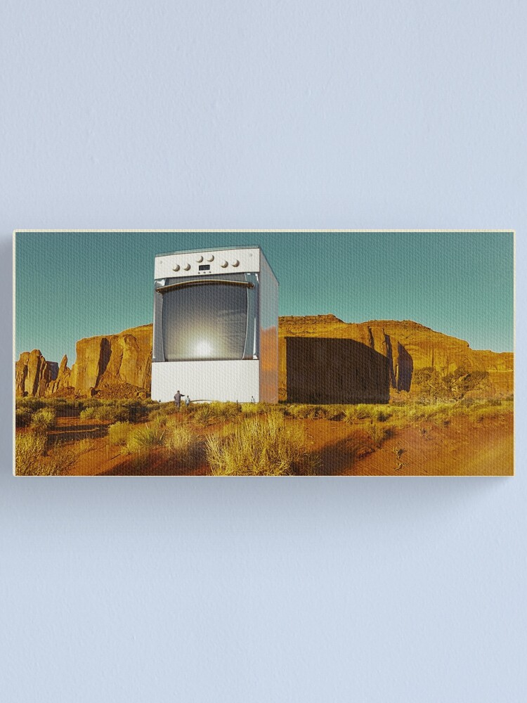 Alternate view of Greetings from Giant Household Appliance National Park #1 Canvas Print