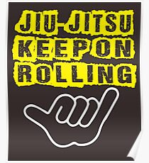 MMA BJJ Roll ON Poster