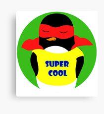 Pingüino super cool/ supercool penguin Canvas Print