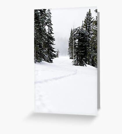 Snowshoe Trail Greeting Card