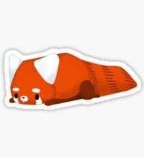 bored red panda Sticker