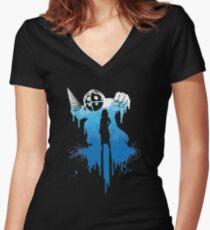 Bioshock Big Daddy Women's Fitted V-Neck T-Shirt