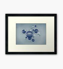 Flying Bubbles Framed Print
