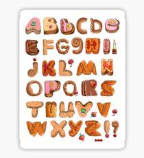 Sweet English Alphabet Font Sticker