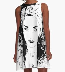 BOY GEORGE (Black & white vers.) A-Line Dress
