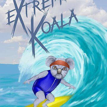 Extreme Koala - Surfer by mrdenmac