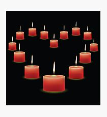 pink candles Photographic Print