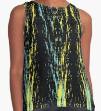Yellow blue pattern Contrast Tank