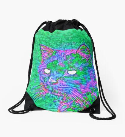 Ninja Cat, Predator Drawstring Bag