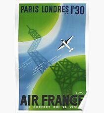 PARIS LONDON in 1h 30m AIR FRANCE Poster