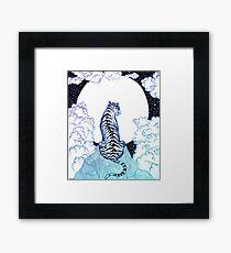 Ombre Tiger Moon Framed Print