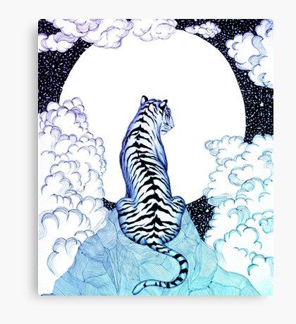 Ombre Tiger Moon Canvas Print