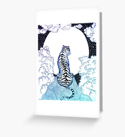 Ombre Tiger Moon Greeting Card