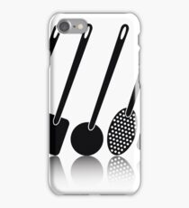 kitchen utensil silhouettes iPhone Case/Skin