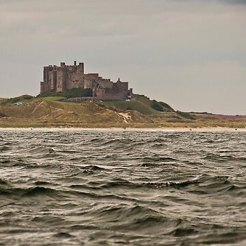 Bamburgh Castle by sea by GrahamCSmith