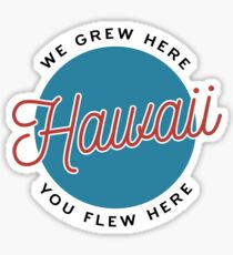 Hawaii — We Grew Here, You Flew Here Sticker