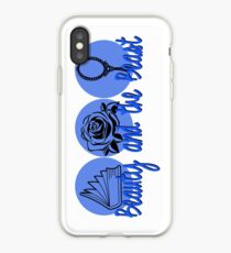 Beauty and the Beast (blue logo) iPhone Case