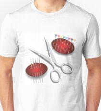 scissors, needles and pins Unisex T-Shirt