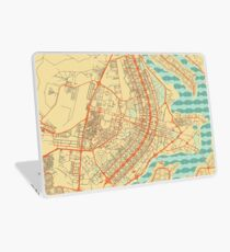 Brasilia Map Retro Laptop Skin