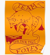 Drinking Foxes Poster