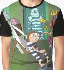 Rick and Morty -- Rick Saving Morty Graphic T-Shirt