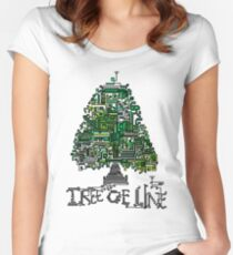 Tree of Line  Women's Fitted Scoop T-Shirt